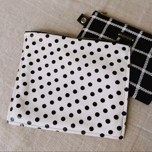 Handbags - Polka Dot Leather Clutch